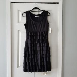 CALVIN KLEIN BLACK SEMI DRESS
